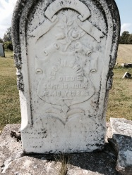 Geo. W. Smith Died Sept. 16, 1884 AE. 40 yrs.2ms