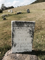 Josephine M dau of W & ME Smith died Sept 26, 1855 ae 7 yrs. 5 ms & 14 days
